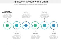 Application Website Value Chain Ppt Powerpoint Presentation Gallery Inspiration