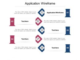 Application Wireframe Ppt Powerpoint Presentation Pictures Information Cpb