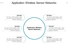 Application Wireless Sensor Networks Ppt Powerpoint Presentation Styles Diagrams Cpb