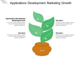 Applications Development Marketing Growth Ppt Powerpoint Presentation Ideas Format Cpb