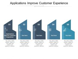 Applications Improve Customer Experience Ppt Powerpoint Presentation Professional Cpb