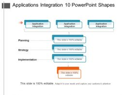 Applications Integration 10 Powerpoint Shapes
