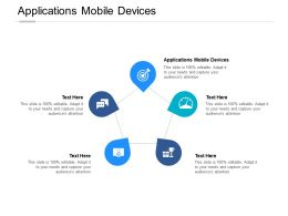 Applications Mobile Devices Ppt Powerpoint Presentation Show Outfit Cpb