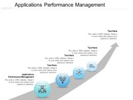Applications Performance Management Ppt Powerpoint Presentation Gallery Deck Cpb