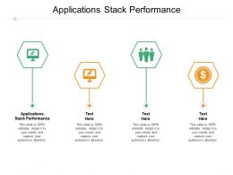 Applications Stack Performance Ppt Powerpoint Presentation Styles Slide Download Cpb