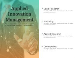 Applied Innovation Management Powerpoint Slide Clipart