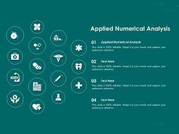 Applied Numerical Analysis Ppt Powerpoint Presentation Slides Portrait