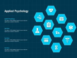 Applied Psychology Ppt Powerpoint Presentation Model Introduction