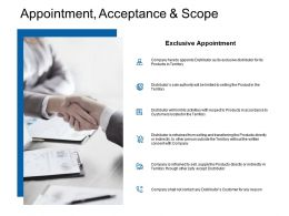 Appointment Acceptance And Scope Ppt Powerpoint Presentation Styles Deck