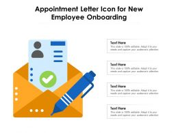 Appointment Letter Icon For New Employee Onboarding