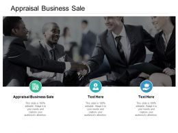 Appraisal Business Sale Ppt Powerpoint Presentation Gallery Microsoft Cpb