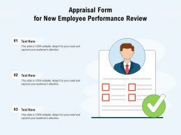 Appraisal Form For New Employee Performance Review