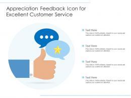 Appreciation Feedback Icon For Excellent Customer Service