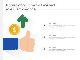 Appreciation Icon For Excellent Sales Performance