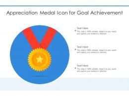 Appreciation Medal Icon For Goal Achievement