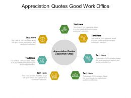 Appreciation Quotes Good Work Office Ppt Powerpoint Presentation Icon Layouts Cpb