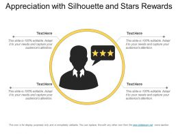 Appreciation With Silhouette And Stars Rewards