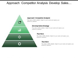 Approach Competitor Analysis Develop Sales Strategy Performance Dashboard