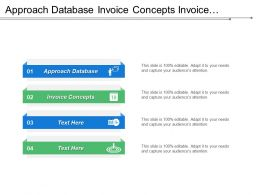 Approach Database Invoice Concepts Invoice Generation Process Data Files