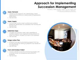 Approach For Implementing Succession Management