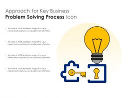Approach For Key Business Problem Solving Process Icon
