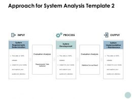 Approach For System Analysis Process Ppt Powerpoint Presentation File Deck