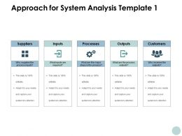 Approach For System Analysis Processes Customers Ppt Powerpoint Presentation File Diagrams