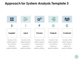 Approach For System Analysis Supplier Outputs Ppt Powerpoint Presentation File Example File