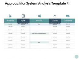 Approach For System Analysis Suppliers Management Ppt Powerpoint Presentation File Gallery