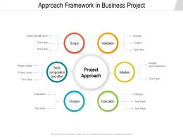 Approach Framework In Business Project