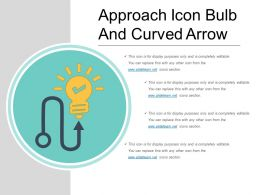 Approach Icon Bulb And Curved Arrow
