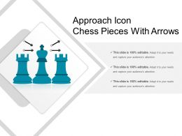 Approach Icon Chess Pieces With Arrows