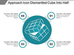 Approach Icon Dismantled Cube Into Half