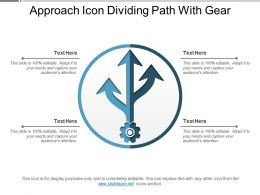 Approach Icon Dividing Path With Gear
