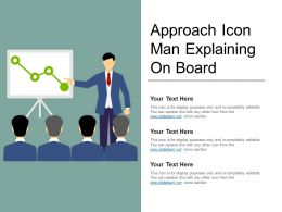 Approach Icon Man Explaining On Board