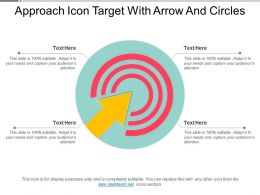Approach Icon Target With Arrow And Circles