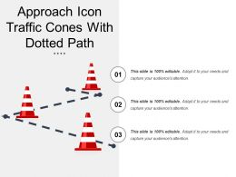 Approach Icon Traffic Cones With Dotted Path