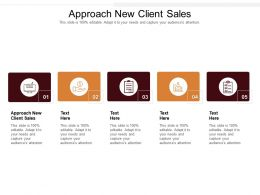 Approach New Client Sales Ppt Powerpoint Presentation Portfolio Backgrounds Cpb