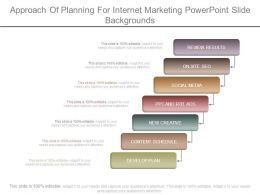 Approach Of Planning For Internet Marketing Powerpoint Slide Backgrounds