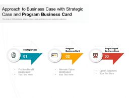 Approach To Business Case With Strategic Case And Program Business Card