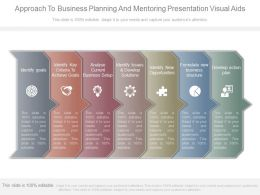 Approach To Business Planning And Mentoring Presentation Visual Aids