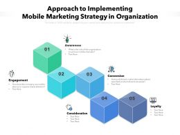 Approach To Implementing Mobile Marketing Strategy In Organization