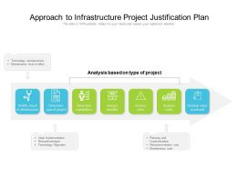 Approach To Infrastructure Project Justification Plan