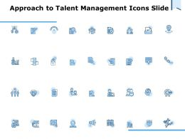 Approach To Talent Management Icons Slide Ppt Powerpoint Presentation Summary Styles