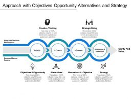 Approach With Objectives Opportunity Alternatives And Strategy