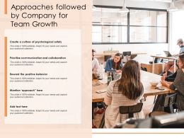 Approaches Followed By Company For Team Growth