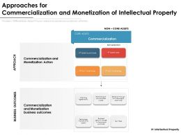 Approaches For Commercialization And Monetization Of Intellectual Property