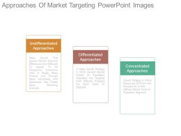 Approaches Of Market Targeting Powerpoint Images