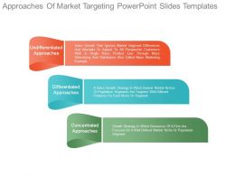 Approaches Of Market Targeting Powerpoint Slides Templates