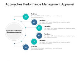 Approaches Performance Management Appraisal Ppt Powerpoint Diagrams Cpb